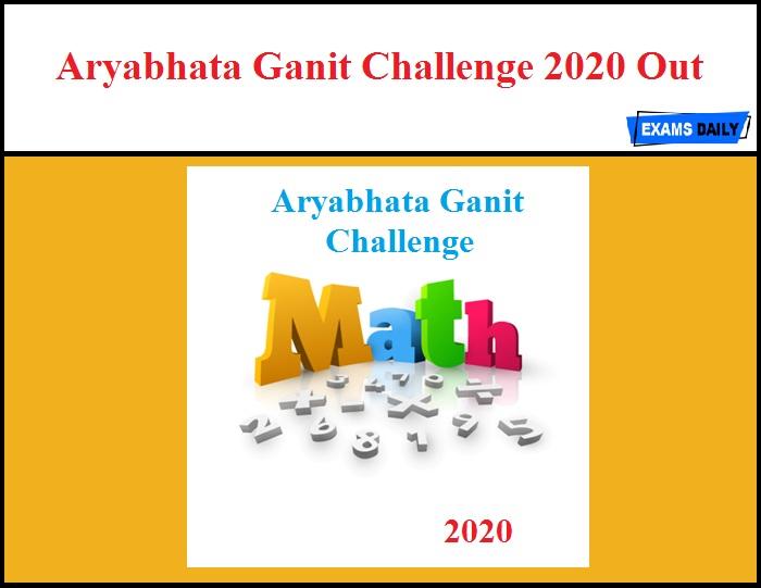 Aryabhata Ganit Challenge 2020
